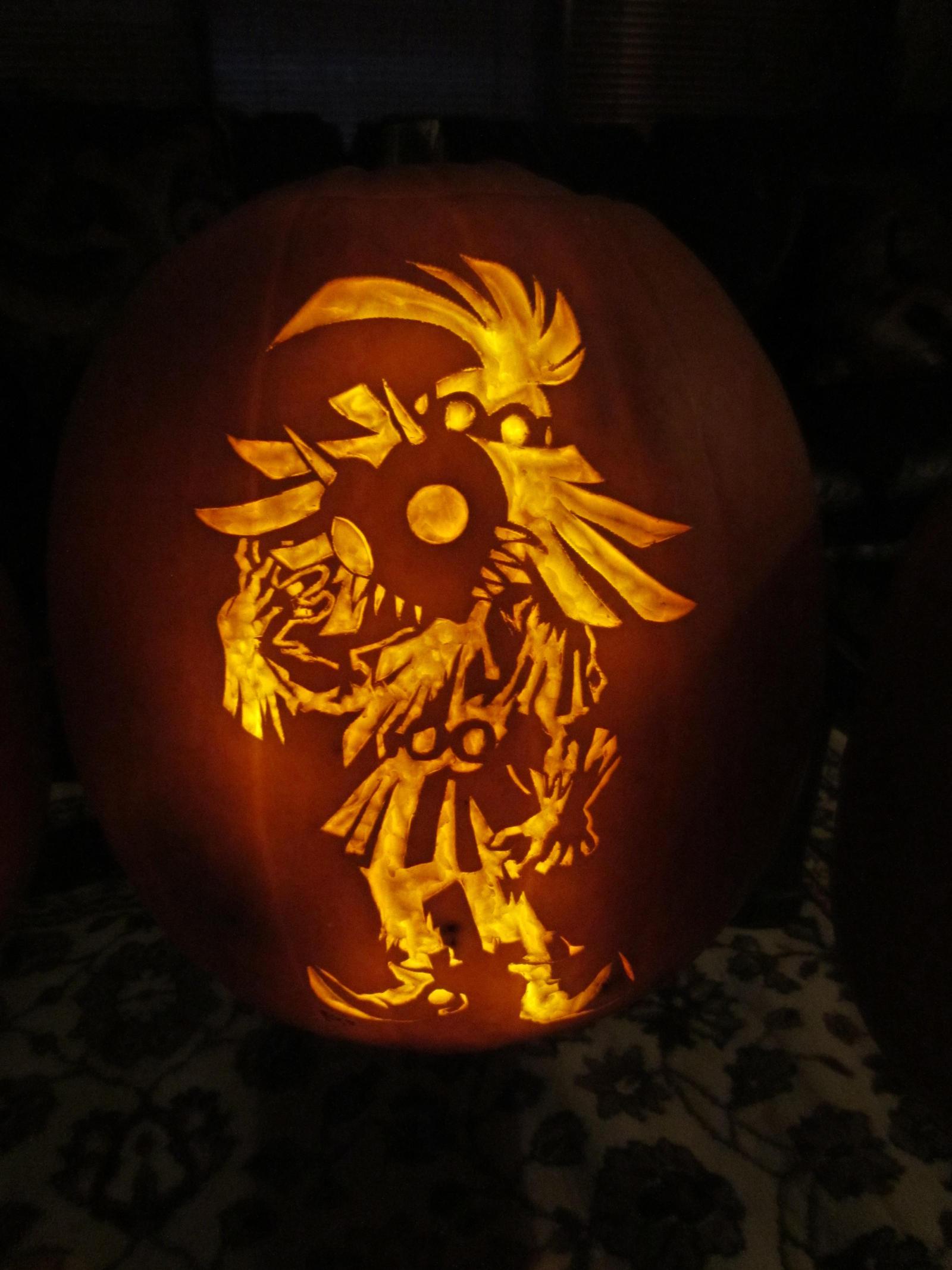Skull Kid Pumpkin (2012) by DimSumDragon on DeviantArt
