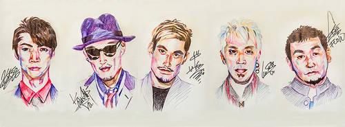 Autographed Portraits of FLOW
