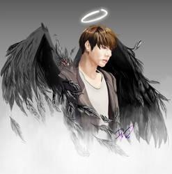 [BTS] Jungkook Fallen Angel (SFW)