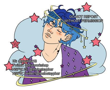 Cosmic Boy Jungkook Pin Design