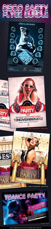 Disco Party Flyer Bundle