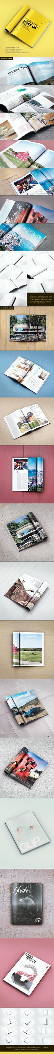 Magazine Mock Up Pack by mucahitgayiran