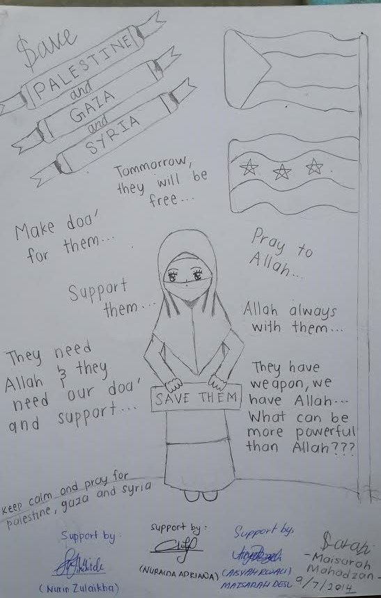 Spirit's Words To Palestine and Gaza and Syria by SarahChan1279