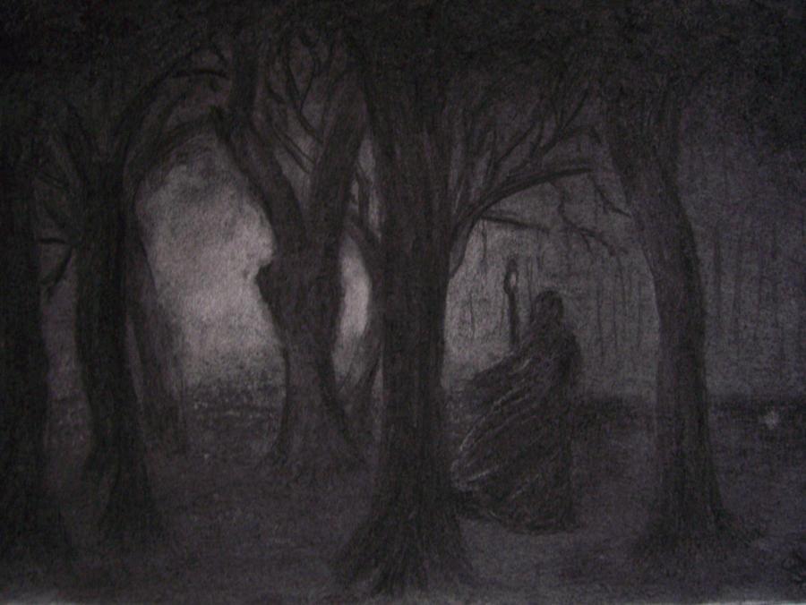 Как рисовать темный лес