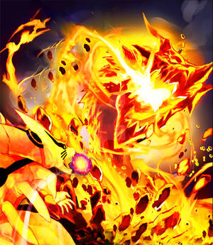 Kurama vs Volcano Dragon