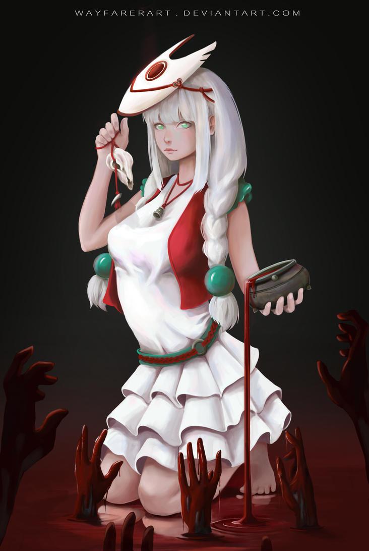 Bloody hands by WayfarerArt