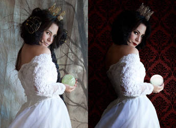 White Queen - Retouch before-after by Screaming-Soul