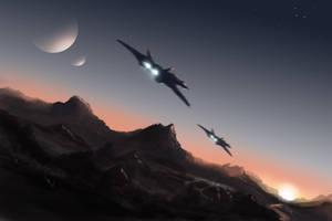 Speedpaint - Nothing But Sky by dustycrosley