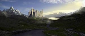 Highland Castle Mattepainting