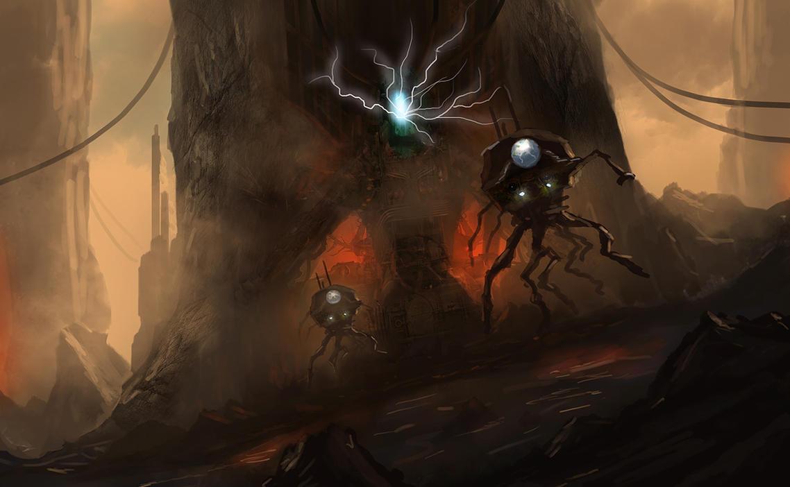 Alien Factory by dustycrosley