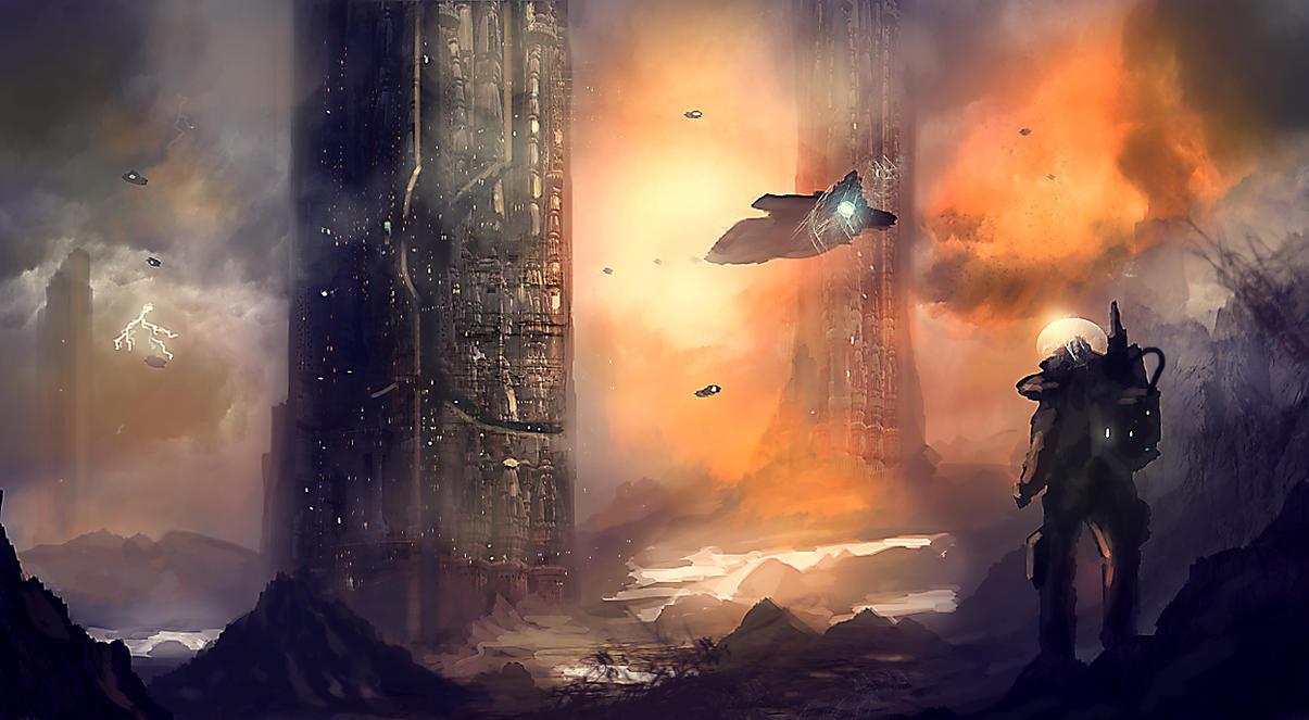 Monolith Valley by dustycrosley