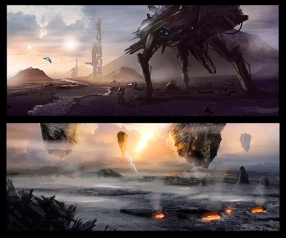 Sci-fi Concepts - 1 by dustycrosley