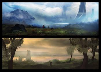 Landscape Duo - 1 by dustycrosley