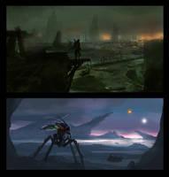 Sci-fi Concepts - 2 by dustycrosley