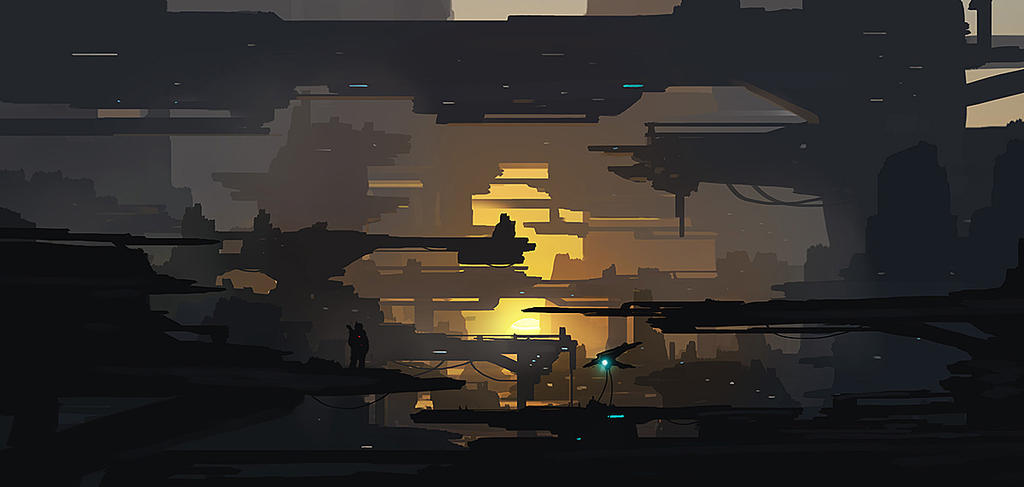 Sci Fi Structures by dustycrosley