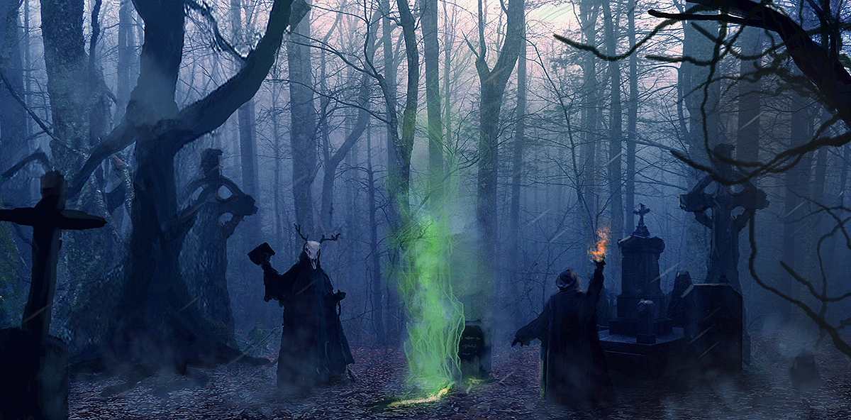 Graveyard Exorcism by dustycrosley