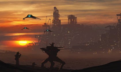 Sunset Invasion by dustycrosley