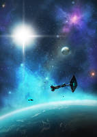 Arrival At Kepler 452b by dustycrosley
