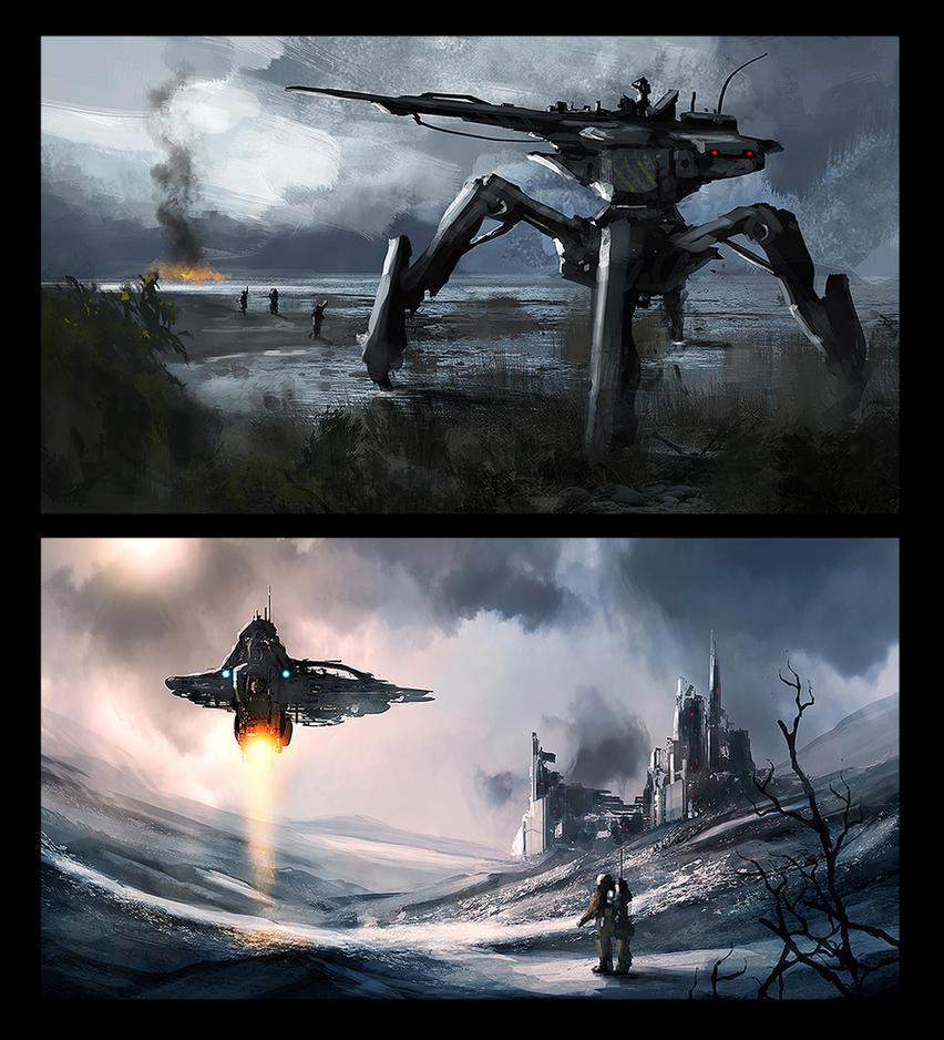 Sci-fi Concepts - 3 by dustycrosley