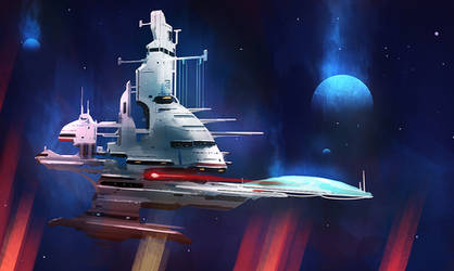 John Berkey Tribute #2 by dustycrosley