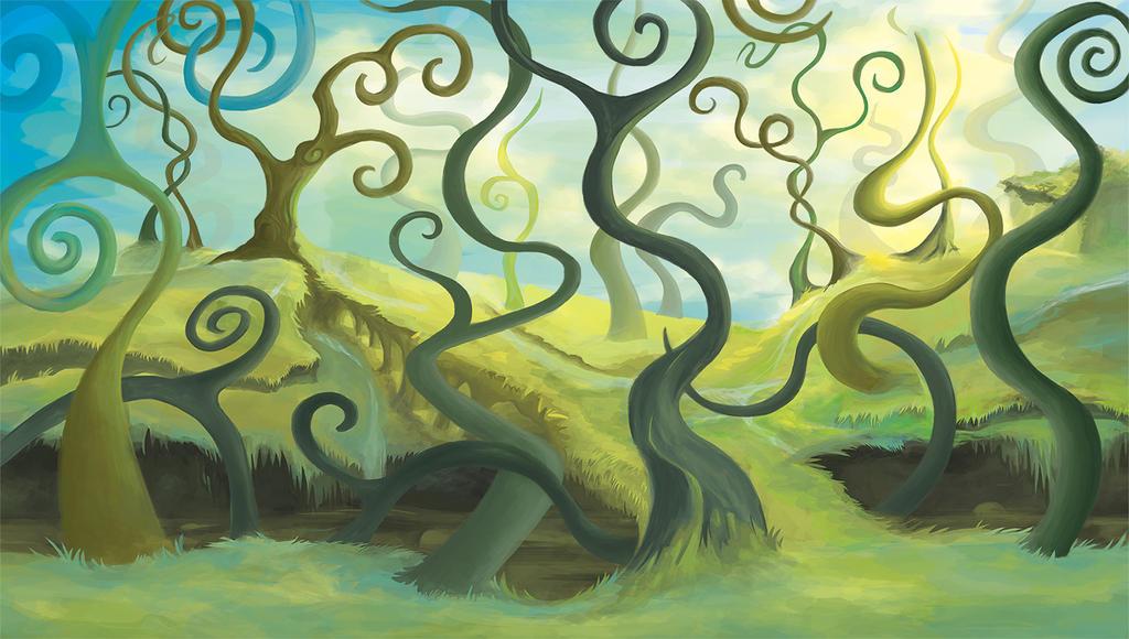 Spiral Trees by MagpieKid