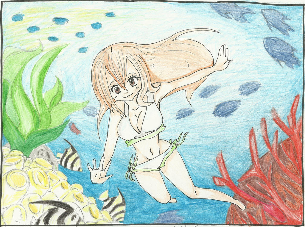 Underwater scenery by gurrenash on deviantart for Fish scenery drawing