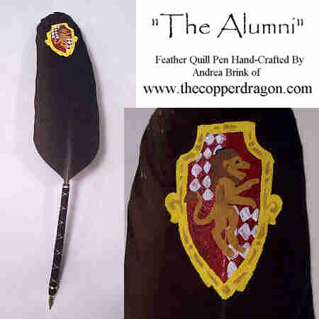 """The Alumni"" Feather Quill Pen by TheCopperDragon2004"