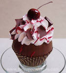 'Black Forest' Fake Cupcake