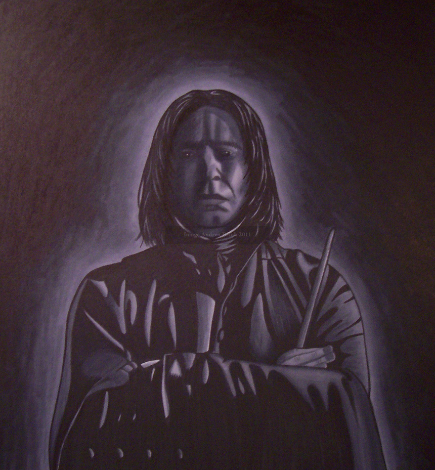 Severus Snape in Prismacolor by TheCopperDragon2004