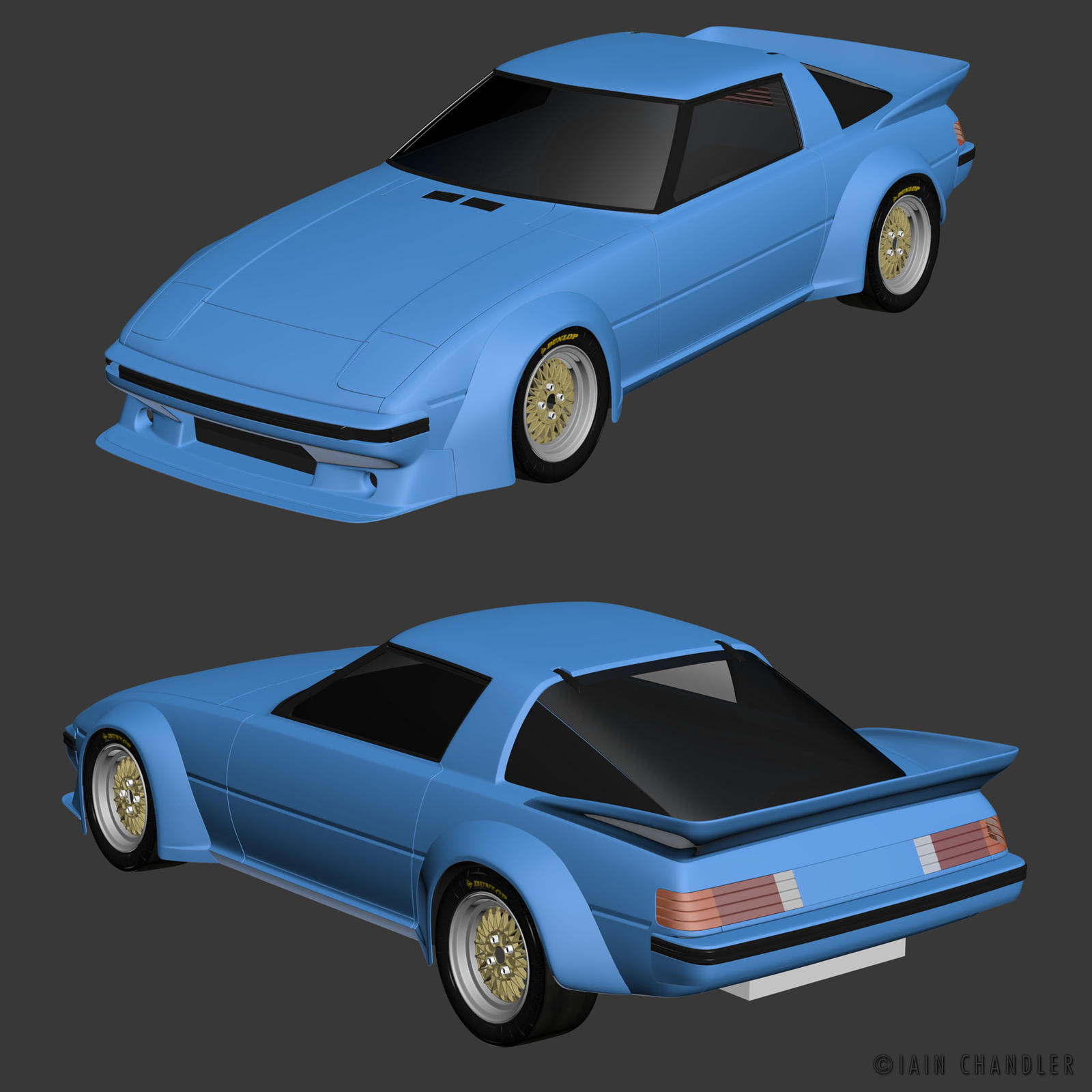'84 Mazda FB RX7 WIP1 by The-IC