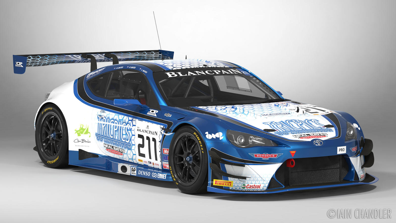 FIA-GT3 ICR Tricpics Toyota GT86 #211 by The-IC on DeviantArt