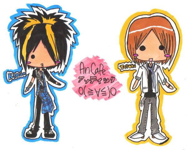 Kanon and Teruki chibis by Unichi