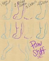 How I Sketch Paws by sazzy-riza