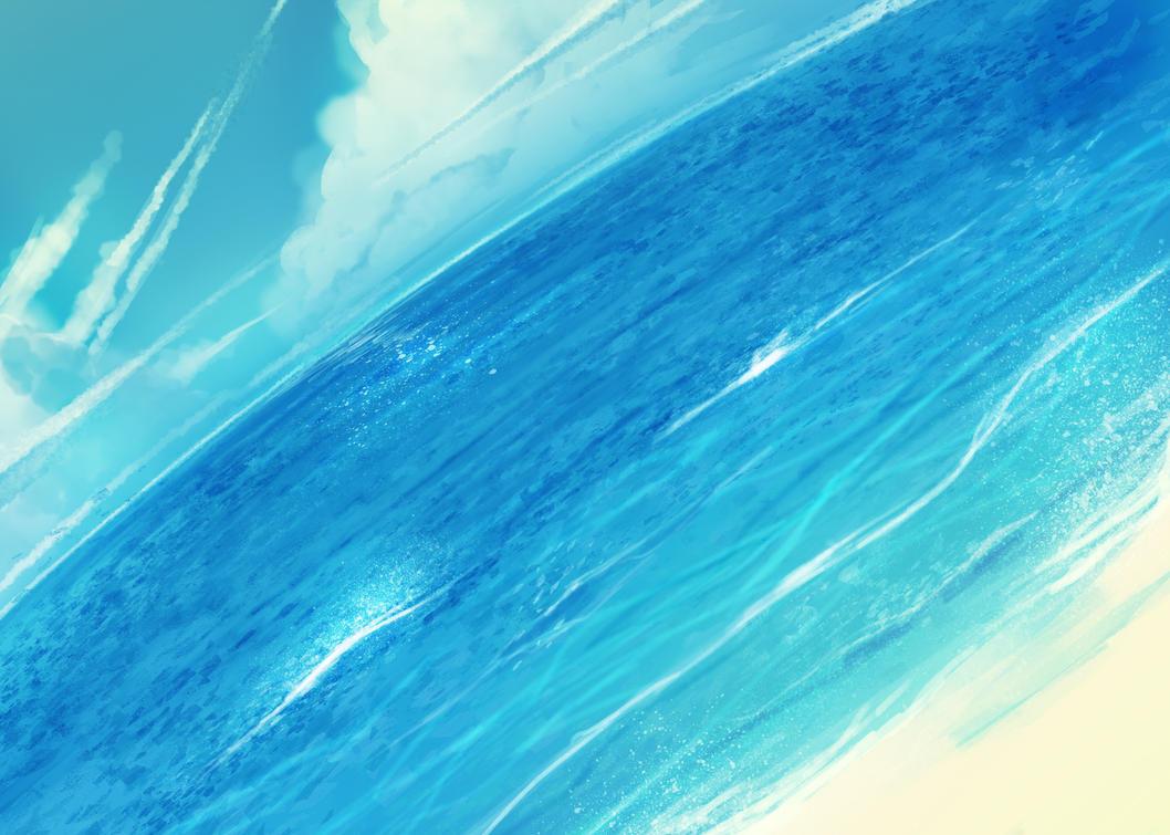 anime background beach by 017m on deviantart
