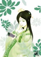 green hanfu by kazen-blown