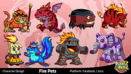 Puzzle Pets Adventure: Fire by migs-abarintos