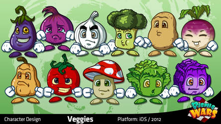 Picnic Wars: Veggies by migs-abarintos
