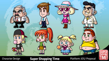SST: Mall Boss and Shoppers by migs-abarintos