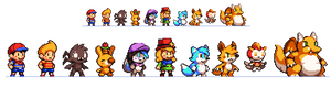Character Sprite Practice (Featuring guests!)