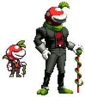 Piranha Plant Guy but it's in KoF style by Neoweegee