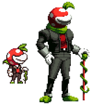 Piranha Plant Guy but it's in KoF style
