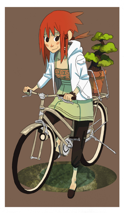cod girl with bike by BusterJim
