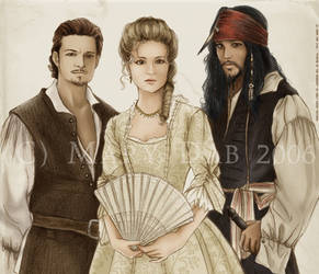Pirates of the Caribbean trio by mary-dab