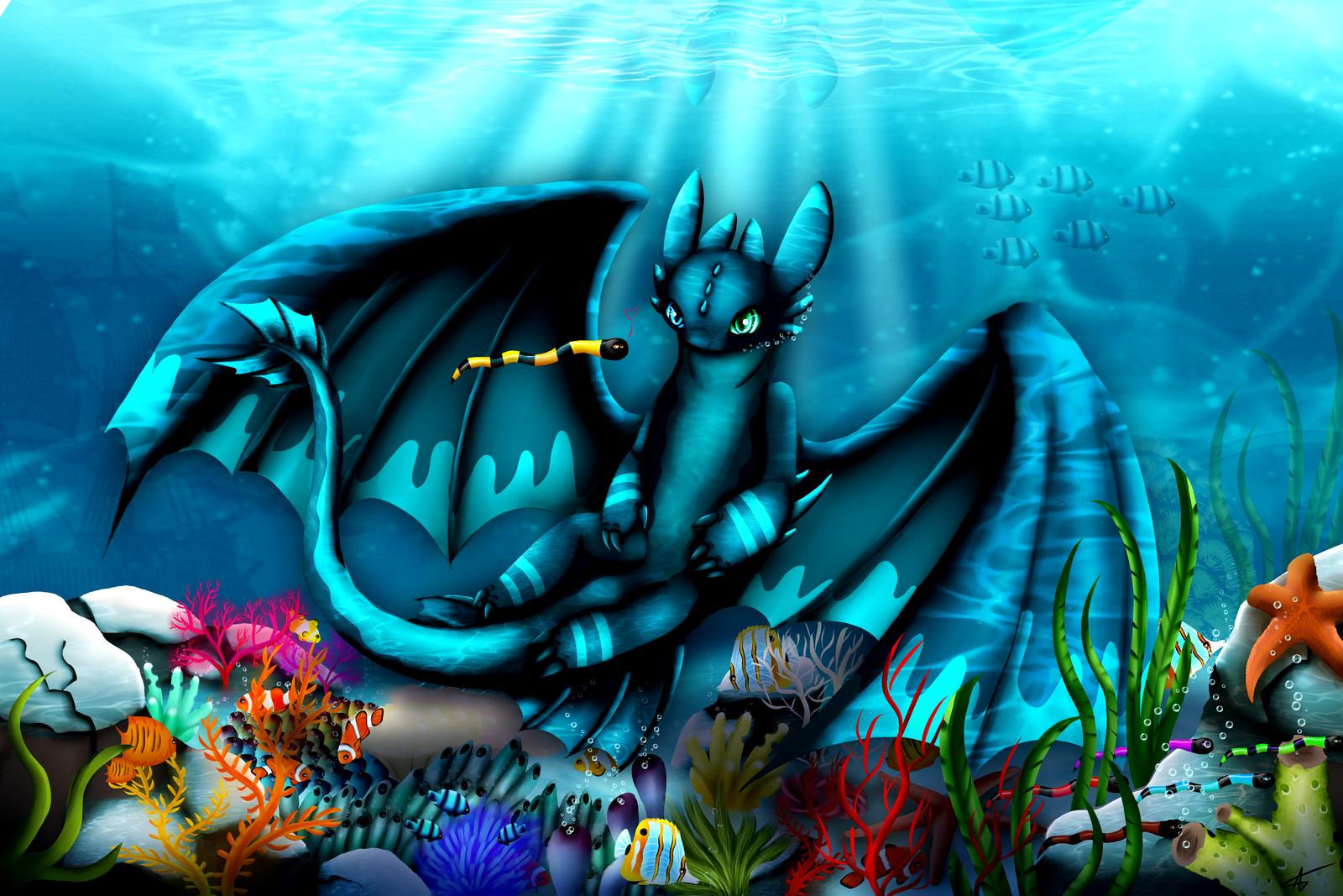underwater world by qi-art on DeviantArt  Underwater World Drawings