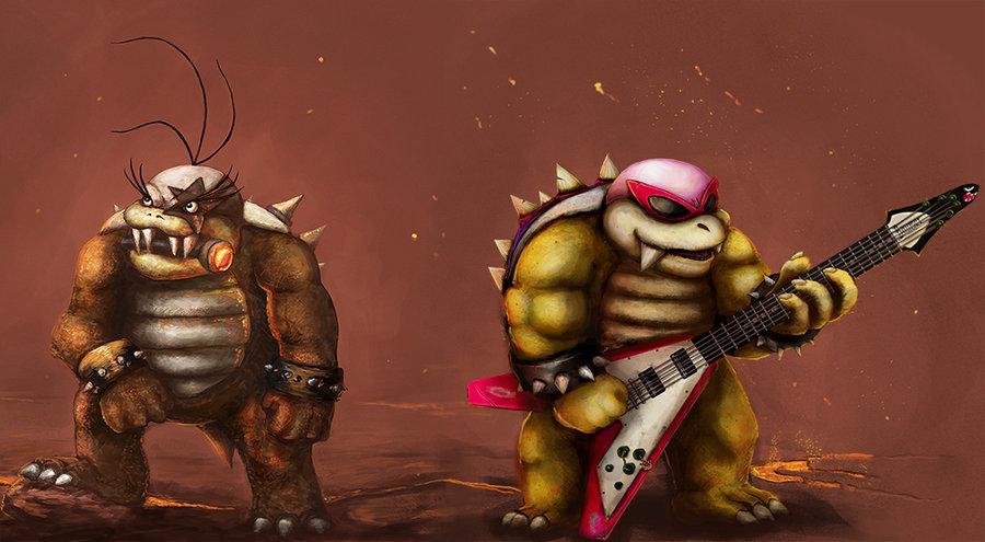 Roy And Morton Koopa Jr  Rocks By Teamlando-d45ryo by LopDrieuna