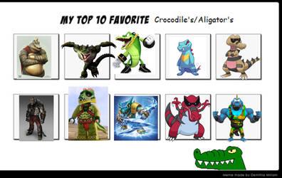 My top 10 favorite crocodile characters by LopDrieuna