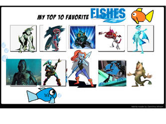My top 10 favorite fishes by LopDrieuna