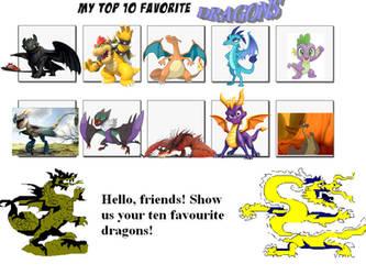 My top 10 favorites dragons by LopDrieuna