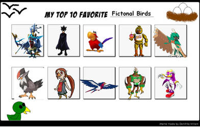 My top 10 favorite birds by LopDrieuna