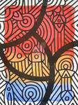LINE AND COLOR EVOCATING ON PAPER-4
